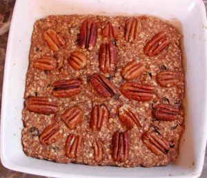 Plantain Coconut Raisin Oatmeal Spice Cookie Bars with Pecans