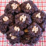 Banana Carob Coconut Raisin Oatmeal Cookies with Walnuts