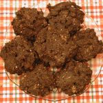 Plantain Carob Coconut Raisin Almond Cookies