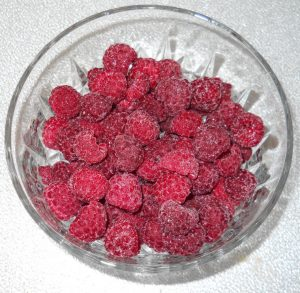 Red Raspberries, Frozen