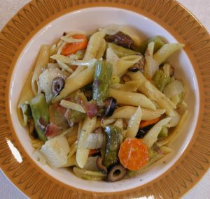 Asparagus Carrots Olives Pasta Primavera with Lemon Sauce