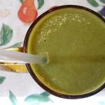 Banana Cantaloupe Collard Greens Peach Smoothie