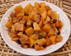 Butternut Squash Apples Raisins Cinnamon