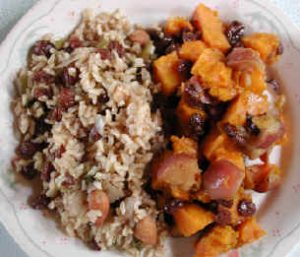 Apples Raisins Cinnamon with Raisin Almond Rice