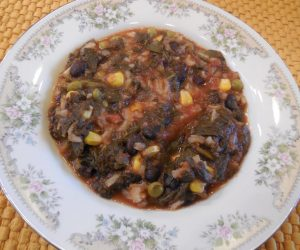 Collard Greens Black Beans Rice Soup