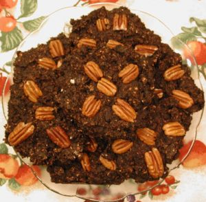 Banana Carob Coconut Raisin Oatmeal Cookies with Pecans