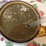 Banana Blueberry Collards Peach Green Smoothie
