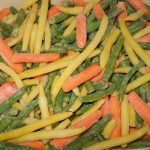 Green and Yellow String Beans with Carrots, Frozen