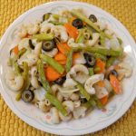 Asparagus Carrots Olives Onions with Brown Rice Elbows