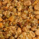 Greek Style Vegetable Chestnut Rice Stuffing