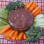 Veggie Plate with Black Bean Dip